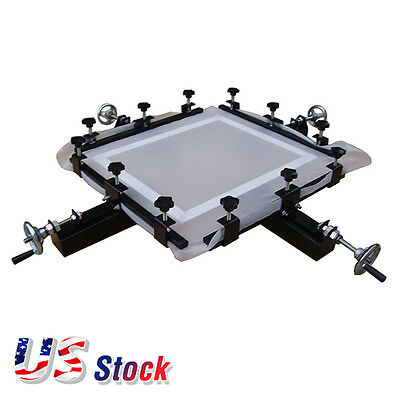 "USA - High Precise 24"" x 24"" Screen Stretching Machine Screen Printing Stretcher"