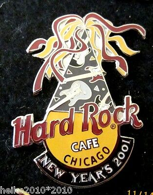 HARD ROCK CAFE CHICAGO NEW  YEARS 2001 pin
