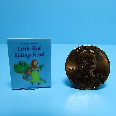Dollhouse Miniature Replica of Book Little Red Riding Hood ~ B033