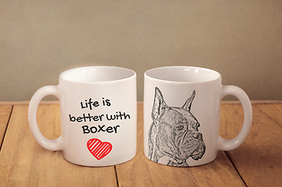 "Boxer - ceramic cup, mug ""Life is better"", CA"