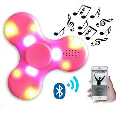 Bluetooth Speaker Hand Spinner & LED Flash Light Finger EDC Gyro Tir - Fidget
