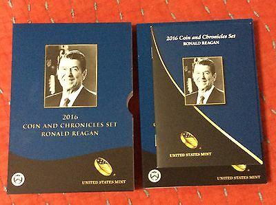 2016 Ronald Reagan * Coin & Chronicles Set *  Reverse Proof