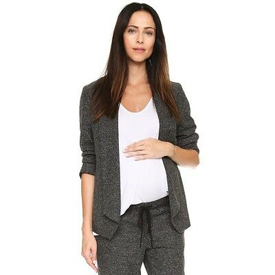 """HATCH Collection Speckle Charcoal Gray Maternity """"The Blazer"""" Size 2 Medium $268"""