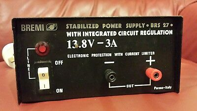 BREMI 13.8v 3A CB RADIO STABILIZED POWER SUPPLY. CAN ALSO TEST CAR RADIO BRS 27