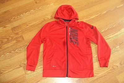 Nike Dri-Fit Full Zip Hoodie Red/ Black Size XL