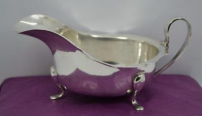 Vintage Georgian style large sterling silver sauce boat quality B.B & s Ltd 1937