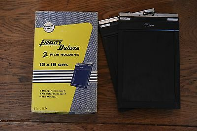 Fidelity Delux 13x18 cm double film sheet holder in Original Box