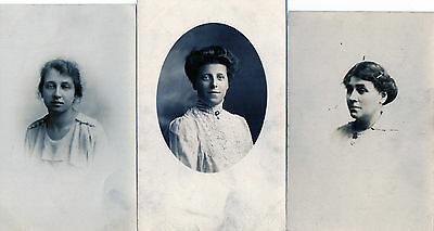 Lot Of 3 Antique Original Postcards - Ladies, (PR)