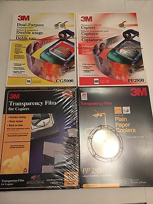 3M Transparency Film lot Of Open Boxes Approximately 300 Sheets Various Models #