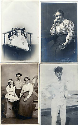 Lot Of 4 Antique Original Postcards (RP)