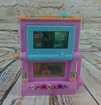 Mattel Pixel Chix Two Storey Electronic Computer Pink House Hand Held Toy 2006