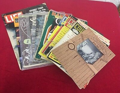 Lot 17 Vintage Country Music Collectible Magazines Song Roundup Opry Hank Elvis