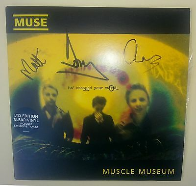 Muse muscle museum limited edition clear vinyl rare signed autographed vynil