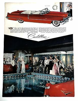 1950s Vintage Magazine Ad For General Motors Cadillac