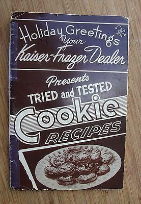 Kaiser Frazer Dealer Christmas Cookie Recipe Book 1949-1951 - Henry J Ad on Back