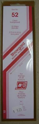 Showgard size 52 clear hingeless stamp mount NEW unopened pack 1st quality 215mm