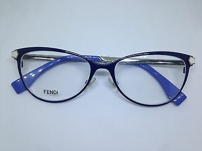FENDI FF0024 occhiali da vista donna metallo blu aste flex woman glasses brille