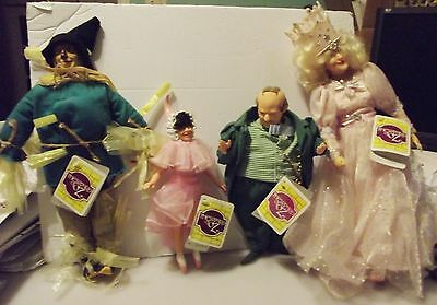 #5084  Wizard of Oz doll; lot of 4 collectable Wizard of Oz Dolls with original