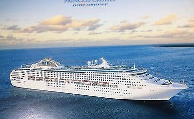 SET of 5 Collectable Postcards Princess Cruise Lines Grand Princess Class #2