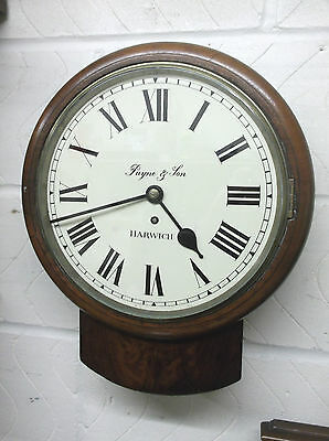 Harwich Shopkeepers Fusee Wall Clock, C 1900. In Good Working Condition +