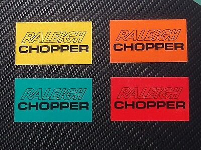 Raleigh Chopper MK2 seat plate, reflective decal, Red, Orange, Green or Yellow