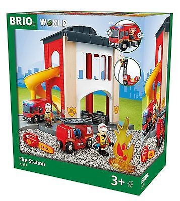 BRIO Central Fire Station Wooden Playset Toy New Free Post