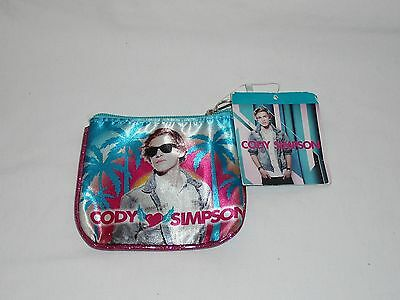 Claire's Cody Simpson Coin Purse Key Ring Zipper Lock USA SELLER New with Tags