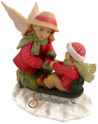 Angels Among Us Christmas Figurine Winter Warmth Betty Singer Collection