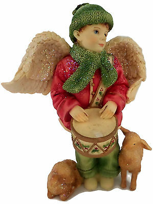 Angels Among Us Christmas Devotion Drummer Boy Figurine Betty Singer Collection