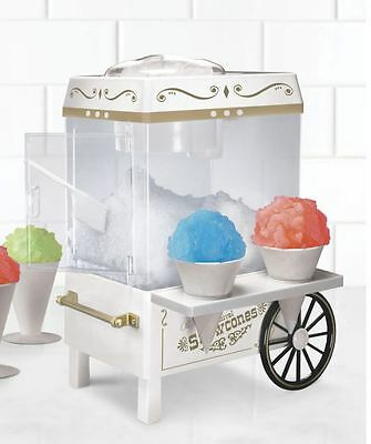 Fun Electric Carnival Style Vintage Snow Cone Shaved Ice Shaver Maker Machine