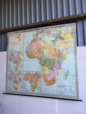 Large school wall Map of Africa