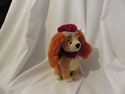 """7"""" soft winter Collette puppy from lady and the tramp 2 disney store plush doll"""