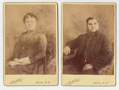 2 x cabinet cards // portraits // Windsor, NS // Lewis Rice Studio
