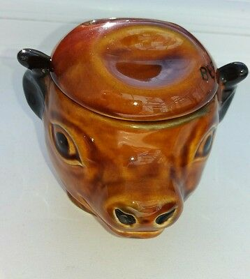 Cow pot . SZEILER STUDIO POTTERY - BEEF DRIPPING POT -