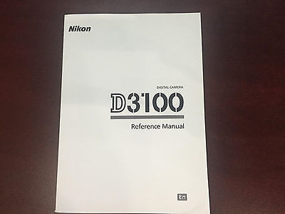 Nikon D3100 Digital Camera User's Manual Guide Book Brand New. Never Used