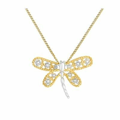 """18K Gold Over White Simulated Diamond Accent /""""Mom/"""" Pendant Necklace $159.88"""