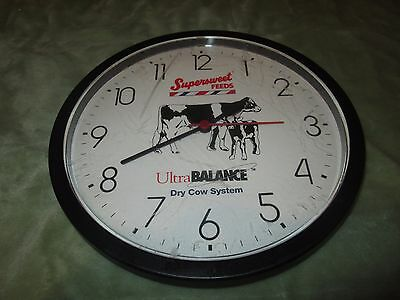 VTG Clock Advertising Supersweet Feeds Iowa Ultra Balance Dry Cow System