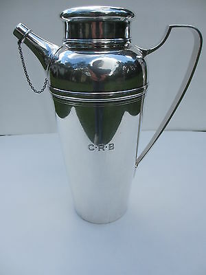 Antique Tiffany & Co. Monogramed C-R-B Sterling 4 Pint Cocktail Shaker 2.52 lbs.