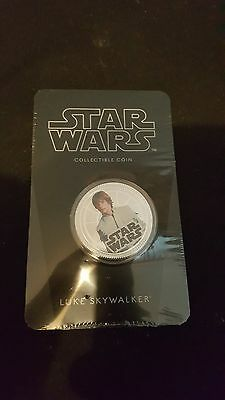 star wars collectible coin Luke skywalker (new and sealed)
