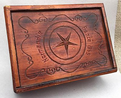 WWII 1945 Folk Trench Art hand carved box Normandie France Normandy World War 2