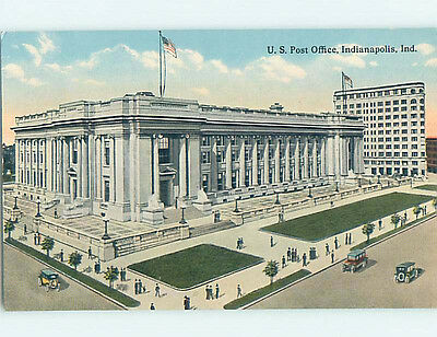 Unused Divided Back POST OFFICE SCENE Indianapolis Indiana IN hs1379
