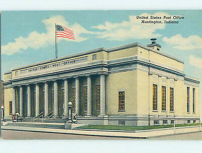 Unused Divided Back POST OFFICE SCENE Huntington Indiana IN hs1419