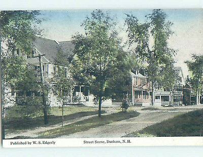 Unused Divided Back STREET SCENE Durham New Hampshire NH hs3373