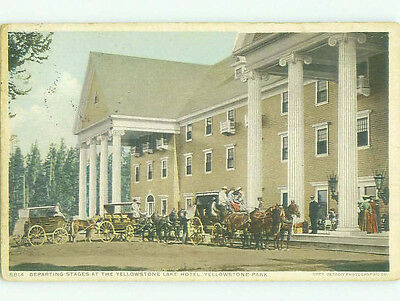 Horse And Carriage At Yellowstone Lake Hotel Yellowstone Park Wyoming WY HQ4528