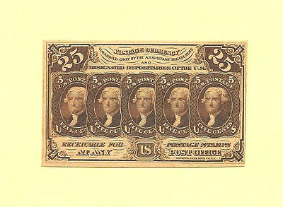 FR 1281 First  Issue 25 Cents Washington Fractional Currency  Uncirculated