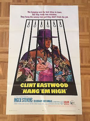 Hang Em High 1968 Original 1 Sheet Poster (good Condition)