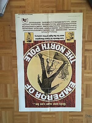 Emperor Of The North Pole 1973 Original 1 Sheet Poster (good Condition)