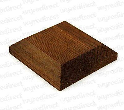 """Wooden Post Top For 3"""" 75mm Fence Post Cap Decking Treated Brown"""