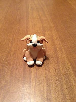 New Sitting Pretty English Bull Dog Figurine - Artist Initialed - OOAK