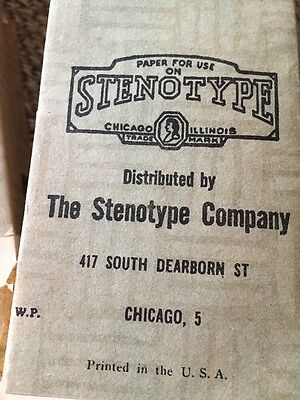 Lot of 9 Antique/Vintage Stenotype Co. Chicago Papers & 3 Stenograph Books